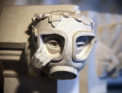 gas mask gargoyle - Washington National Cathedral - 2012-09-13