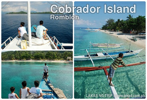 Boat ride from Romblon Island to Cobrador Island