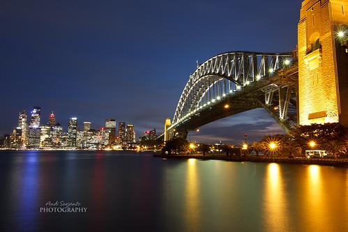 bridge sunset geotagged cityscape harbour sydney geo:lat=3384965288367278 geo:lon=15121385033464048