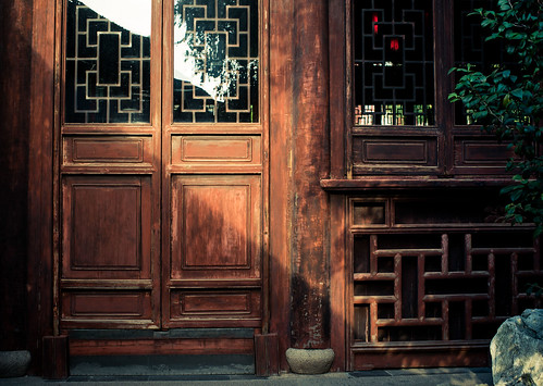 Yuyuan gardens door detail
