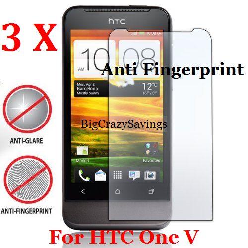 Lot Of 3 Anti Fingerprint Screen Protector For HTC One V Film