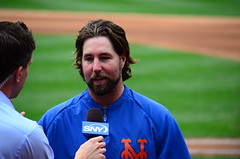 R.A. Dickey in Post-Game Interview with Kevin Burkhardt