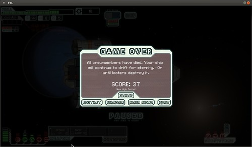 My First FTL Game Over