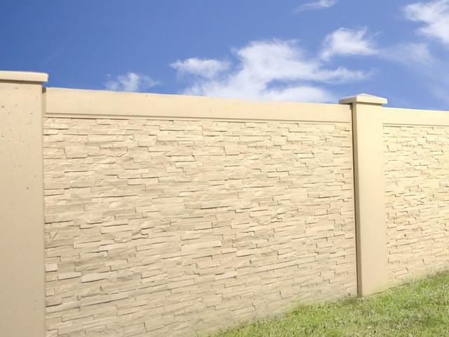 Precast Concrete Perimeter Fence Commercial Projects