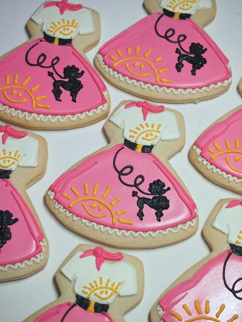 Poodle Skirt Custom cookies