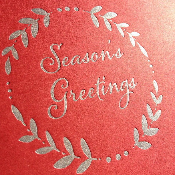 It's strange to be printing so much holiday stuff when it is 85 degrees outside! #letterpress #holiday #christmascards