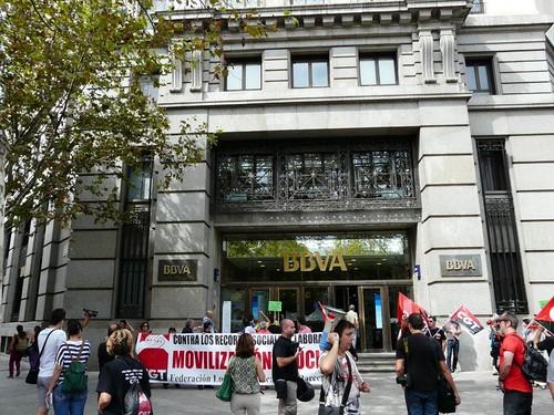 26 setembre jornada de lluita BCN davant BBVA