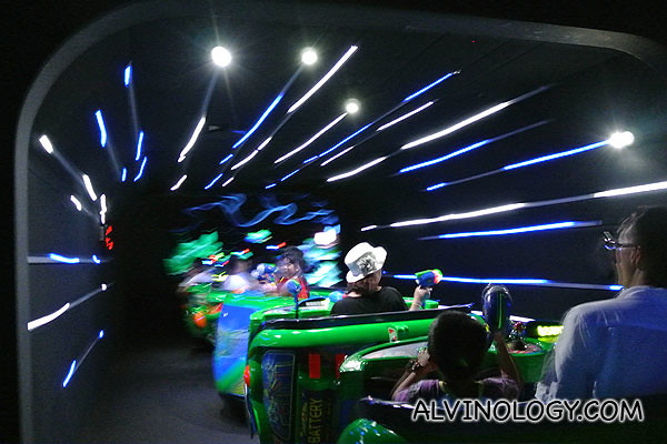Very cool lights effect that makes you feel like you are traveling through space at light speed