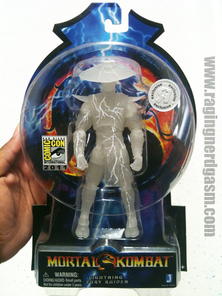 Mortal Kombat Action Figure  by Jazwares SDCC 2011 exclusive Lightning Fury Raiden 001
