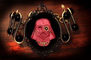 Steampunk Lady Darth Vader Cameo Bracelet