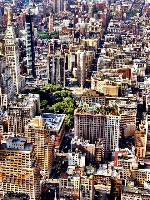Flatiron Building and New York City Skyline From Above
