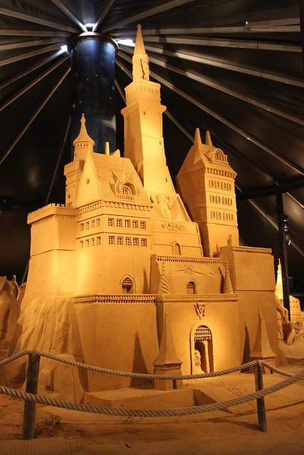 big castle made of sand