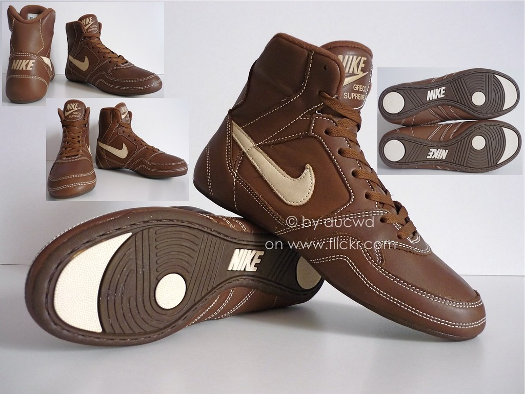 designer fashion 4f83f 08e57 ... NEW 90`S VINTAGE NIKE GRECO SUPREME WRESTLING SHOES  HI TOPS  by aucwd