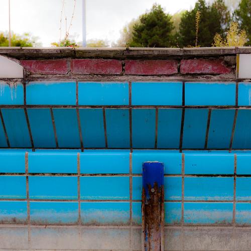 Blaue Fliesen; copyright 2012: Georg Berg