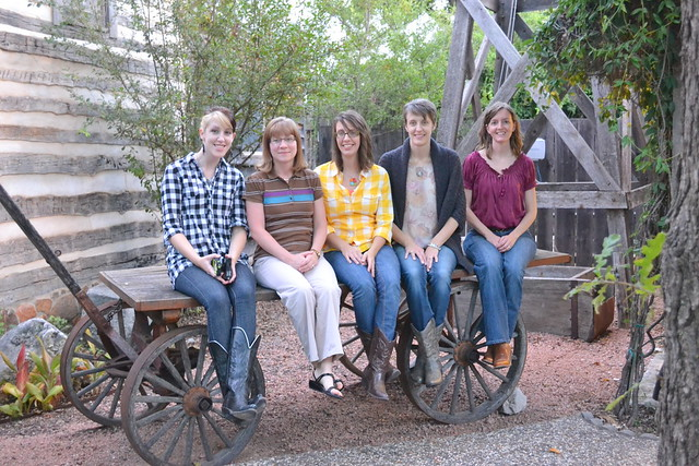 The girls at Cotton Gin Village