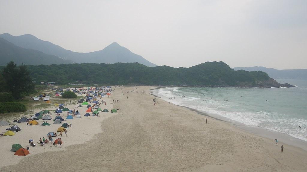 Camping on Tai Long Wan Beach