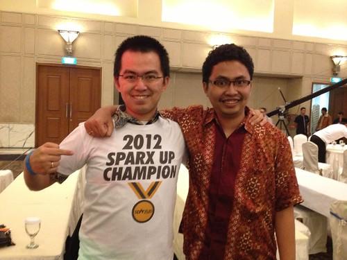 Dua pendiri DapurMasak.com, Soegianto dan Didik Wicaksono