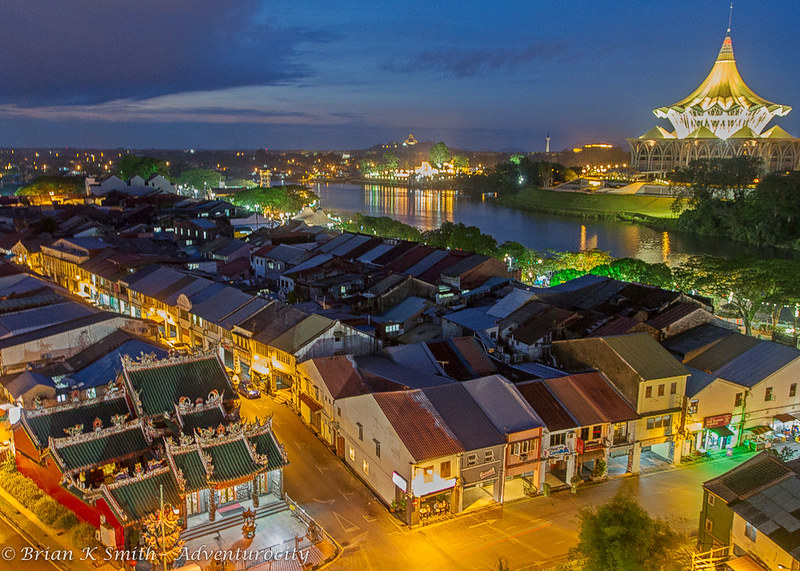 Kuching Old Bazaar at Night