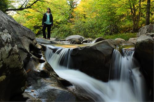 portrait fall nature water girl female river waterfall stream vermont elementsorganizer