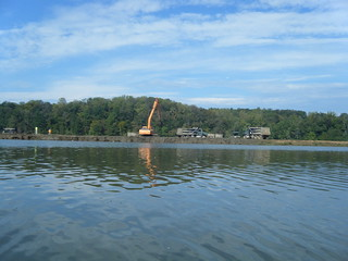 Dredging on Lake Saluda