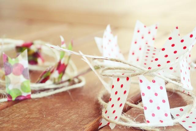 como hacer una guirnalda con washi tape y otros materiales (4)