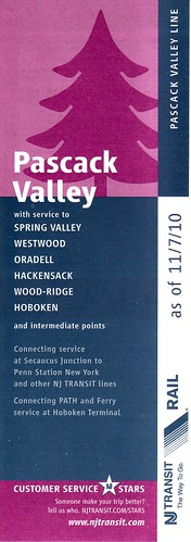 NJ Transit Pascack Valley Line 2010 Cover
