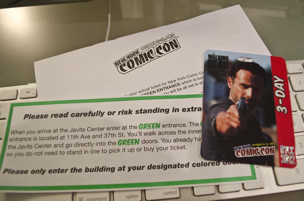 New York Comic Con 2012 Ticket