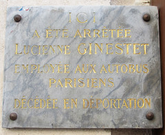 Photo of Lucienne Ginestet grey plaque