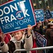 Activists protest fracking outside Gov. Cuomo's office, New York by CREDO.fracking