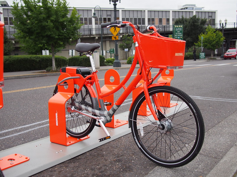 Biketown Bicycle: These guys use shaft drive instead of chain drive.