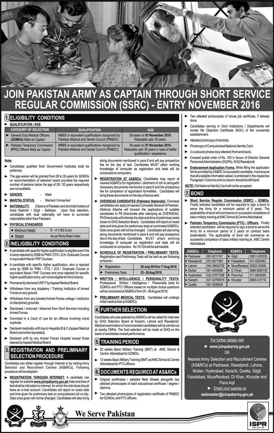 Join Pak Army as Captain through Short Public Service Commission