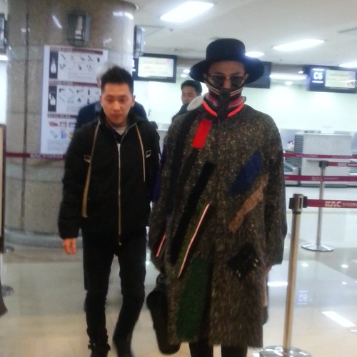 Big Bang - Gimpo Airport - 15jan2015 - G-Dragon - choi1987rose - 01