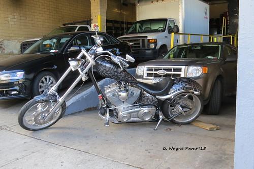 Custom Chopper Motorcycle
