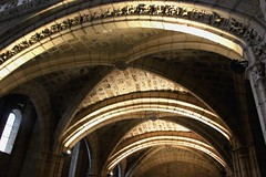 Vaulted ceiling inside the Basilica of St Isadore, Leon
