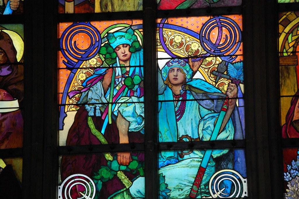 Vidriera de Alfons Munch en la San Vito