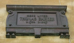 Photo of Thomas Barker bronze plaque