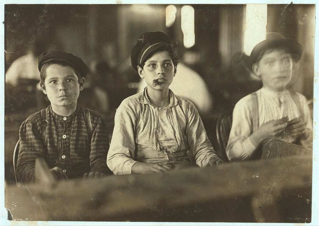 Young Cigarmakers in Englahardt & Co., Tampa, Fla.