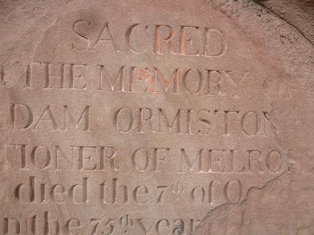 Ormiston Grave Stone, Melrose Abbey