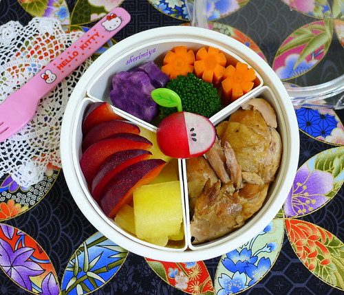 Soy Chicken Drumsticks Bento by sherimiya ♥
