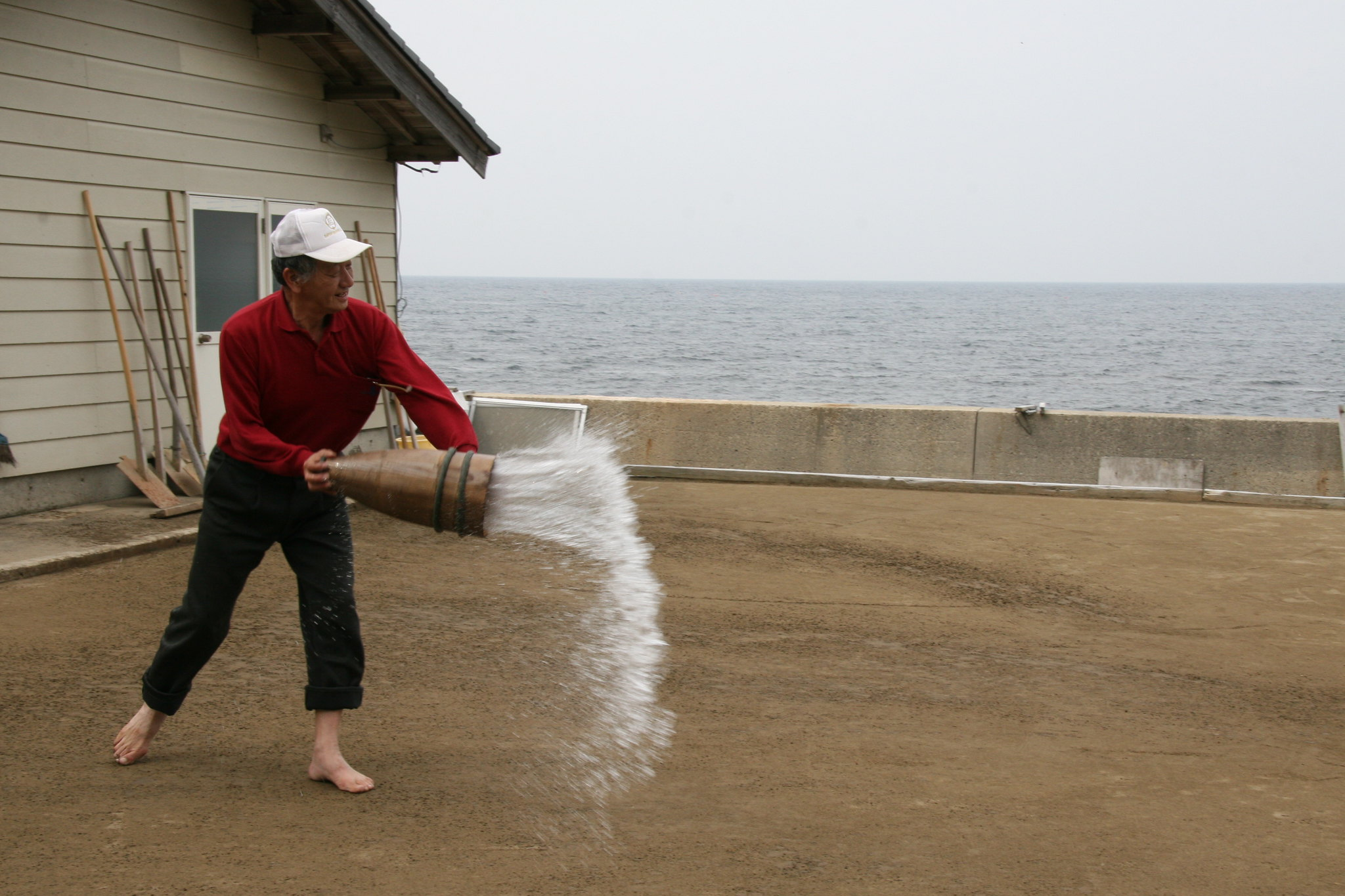 Natural salt production, Noto, Japan