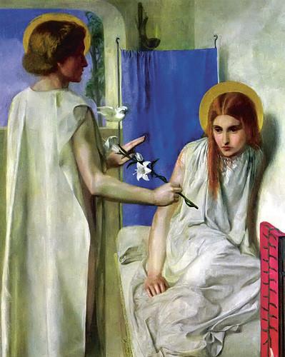The Annunciation by Dante Gabriel Rossetti
