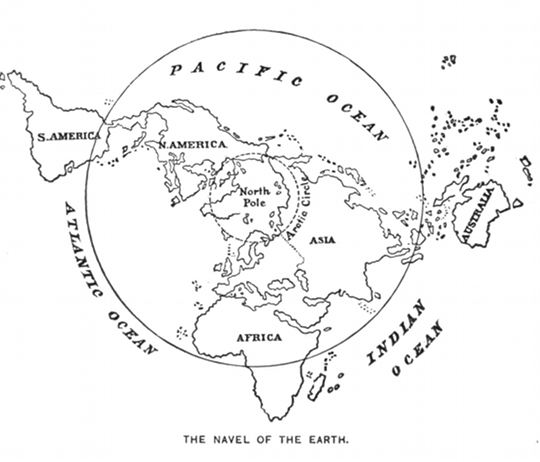 The last great explorer william f warren and the search for eden map showing the geographical centrality of the north pole from paradise found 1885 by william f warren gumiabroncs Gallery