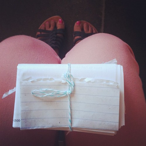 Robbie gave me 7 notes to read on the plane at different time intervals. he's so good to me.