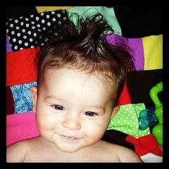 Smiley. #cord #baby #boy #hair #instagood