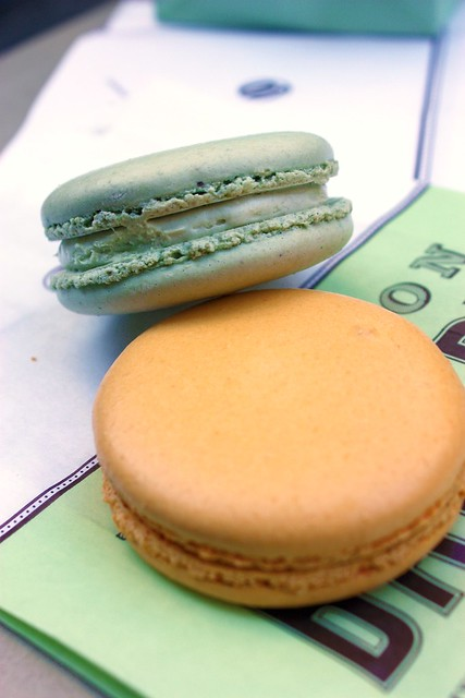 Passion Fruit & Pistachio French Macarons - Bouchon Bakery - Rocketfeller Center - New York