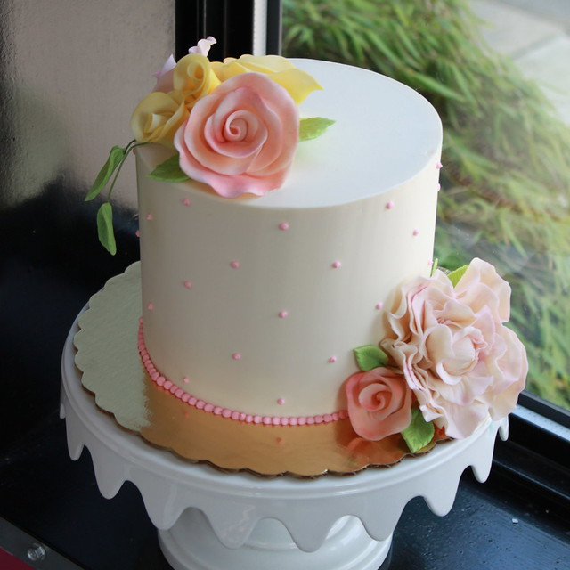 Square Single Tier Iii Iced Wedding Cake