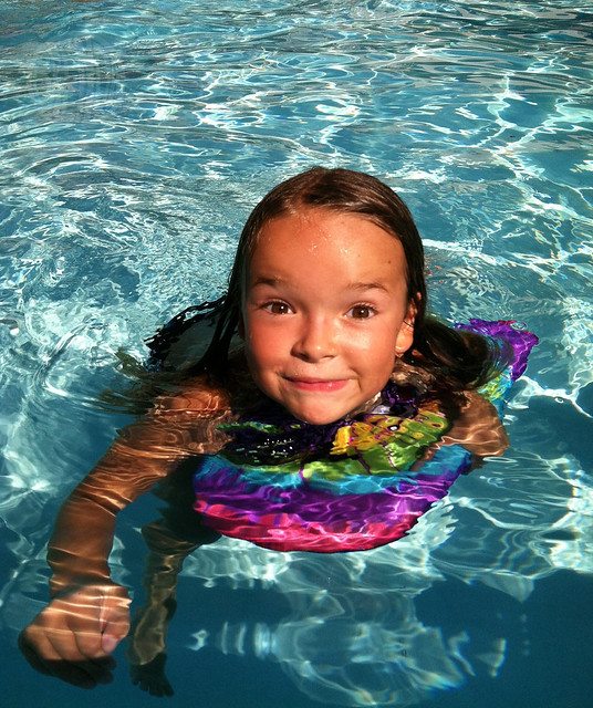Last Day of Summer: She swims!