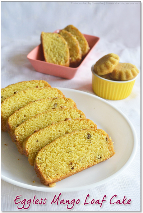 Eggless Mango Cake / Mango Loaf Bread  Recipe