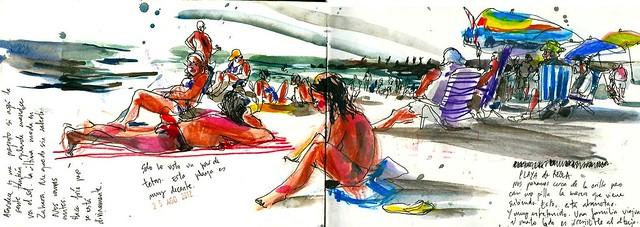 Playa de Chipiona. 2012