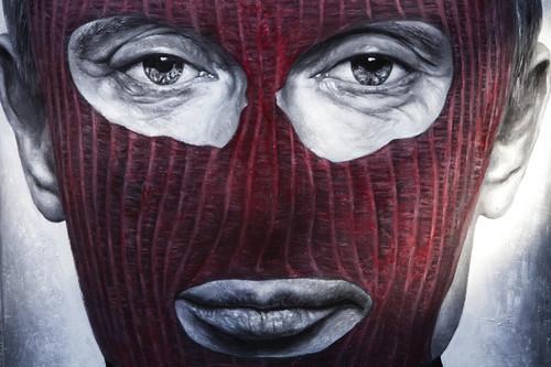 Pussy Riot - Vladimir Vladimirovich Putin, painted portrait - IMG_2449